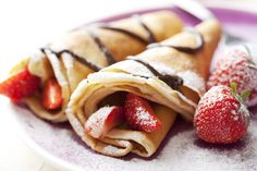 Czech sweet pancakes with strawberries - Cuisine of Czechia