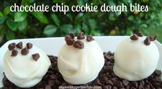 shaken together: {taste this} chocolate chip cookie dough bites (no bake!)