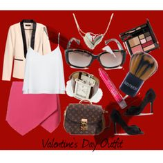 """Valentine's Day Outfit"" by cailynharley16 on Polyvore"