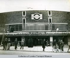 Wood Green station by Charles Holden London History, Local History, Family History, Vintage London, Old London, Architecture Tumblr, Underground Lines, London Underground Stations, London Transport Museum