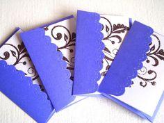 Blank Mini Note Cards elegant flourish embossed plum by Wcards, $3.50