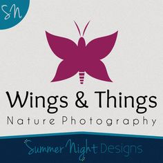 Items similar to Custom Business Logo Premade Logo Butterfly Logo Photography Logo on Etsy Business Logo, Nature Photography, Logos, Handmade Gifts, Etsy, Design, Kid Craft Gifts, Logo, Craft Gifts