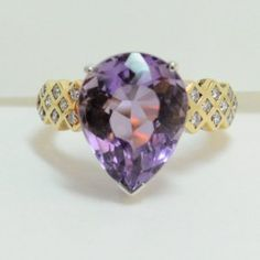 Lot # 41: Amethyst & Diamond Ring.  *NO RESERVE* Gold Rush Pays Auction Rodeo: July 30th at 2pm EST