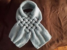 Gevlochten sjaal , gebreid