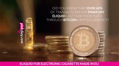 Did you know that over 60% of transactions for PinkFury eliquid last year took place through Bitcoin cryptocurrency?  #pink-fury #pinkfury #vape #vaping #ecig #e-cig #ejuice #e-juice #factory #eliquid #eliquidy #epapieros #epapierosy #elektroniczne papierosy #elektronicznepapierosy
