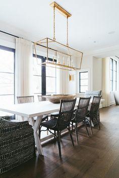 Coastal Black and White Dining Room
