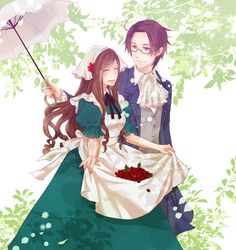 Erzsébet and Roderich - Art by Irreale Rasen-- This is only my most favorite art of them EVER!