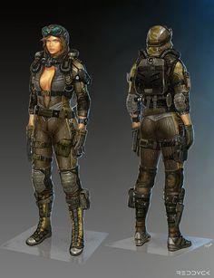 'Ginny' Concept art - Alliance of Valiant Arms, Hyse Kim on ArtStation at http://www.artstation.com/artwork/ginny-concept-art-alliance-of-valiant-arms