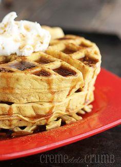 foodfuckery:  Puffy Pumpkin Waffles Recipe