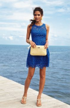 Lilly Pulitzer Summer '13- Foley Dress - there is something about a blue dress that makes the sky and the ocean look even bluer!