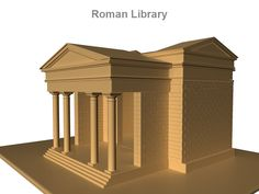Roman Library 3D Model-   Ancient Roman architecture adopted certain aspects of Ancient Greek architecture, creating a new architectural style. The Romans were indebted to their Etruscan neighbors and forefathers who supplied them with a wealth of knowledge essential for future architectural solutions, such as hydraulics and in the construction of arches. Later they absorbed Greek and Phoenician influence, apparent in many aspects closely related to architecture; for example, this can be seen in the introduction and use of the Triclinium in Roman villas as a place and manner of dining.    Surface Type Polygon  Texture No  Animation No    Verts - 138476  Edges - 267926  Faces - 134046  Tris - 267760  UVs - 186492   - #3D_model #Architecture 3D Models,#Landmarks,#Other Architecture Structures