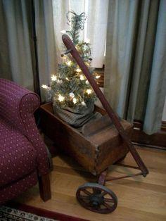 Little Cart w/Tree