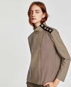 PATCHWORK TOP WITH SHOULDER BUTTONS