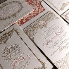 Victoriana Baroque Letterpress Wedding Suite by BellaBaroqueDesign, $11.00 Love this design.