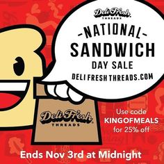 My sale goes till midnight as does #NationalSandwichDay.  Enjoy the #KingofMeals