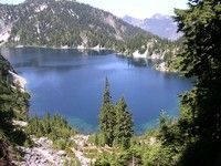 Snow Lake near Snoqualmie Pass in Washington. Can't wait to explore this trail!