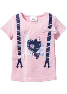 T-Shirt, bpc bonprix collection, puderrosa bedruckt