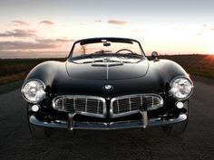 1957 BMW 507 | More here: http://mylusciouslife.com/stylish-home-luxury-garage-design/