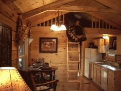 400 Sq. Ft. Oak Log Cabin on Wheels Photo