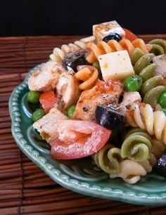 Cold Chicken Pasta Salad - I'll find a substitute for pepperjack cheese