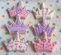 Princess Crown  Tiara  Cookie Favors  Decorated  by lorisplace