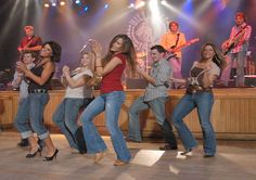 Line dancing at the Wildhorse Saloon in Downtown Nashville