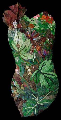 Demeter by Marian Shapiro  ~  Maplestone Gallery  ~  Contemporary Mosaic Art