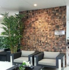 These naturally finished timber mosaic wall tiles are perfect for provincial and relaxed interiors where a sense of a connection with nature is paramount. Timber Tiles, Mosaic Wall Tiles, Outdoor Flooring, Recycled Wood, Melbourne, Tile Floor, Recycling, House Design, Urban