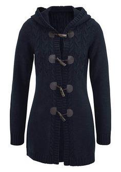 CHEER Vest met kabelmotief knit cable vest navy blue
