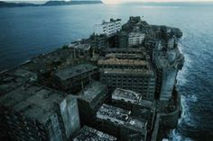 I swear I had a dream about a place just like this that was the inspiration for a short story.  It's a real place, Hashima Island.