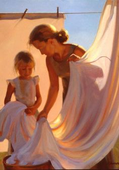 Jeffrey T. Larson (American, born 1962)....reminds me of my grandmother and me...memories