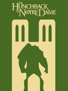 The Hunchback of Notre Dame ~ Minimal Movie Poster by Eloise ~ Disney Series Disney Minimalist, Minimalist Poster, Disney Movie Posters, Disney Films, Notre Dame Disney, Disney Canvas Art, Disney Silhouettes, Light Film, Disney Images