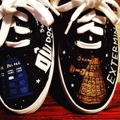 Dr Who custom painted shoes - pinned by pin4etsy.com