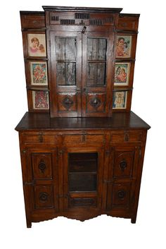 antique wall hutch cabinet indian paintings boho shabby chic antique storage cabinet with doors s29 cabinet
