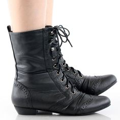 Black Victorian Steampunk Lace Up Oxford Vtg Style Womens Flat ...
