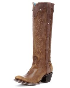 Tall #cowgirl boot by Corral http://www.countryoutfitter.com/products/31028-womens-kats-natural-westport-c1971