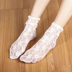 Cotton Ankle Flower Lace Socks For Female 2pair/lot