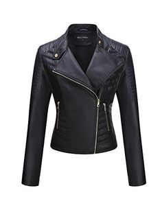 Bellivera Women's Faux Leather Short Jacket,Moto Casual Coat for Winter and Spring Long Jackets, Jackets For Women, Clothes For Women, Fall Fashion Outfits, Casual Fall Outfits, Spring Fashion, Short Cuir, Leather Shorts, Leather Jackets