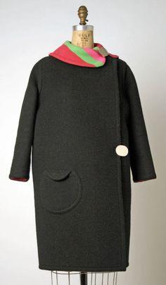 Pierre Cardin coat ca. 1966-1967 via The Costume Institute of the Metropolitan Museum of Art