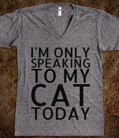 I'm Only Speaking To My Cat Today
