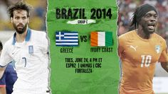 Greece vs Cote D Ivoire Live Stream Info FIFA World Cup Preview 2014. http://www.watchcriclive.com/news/?p=717