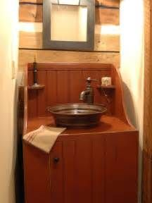 Primitive Bathroom Vanity - Home Interior Design Ideas #PrimitiveBathrooms