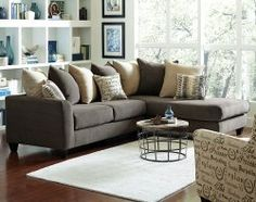 Chocolate Brown Couch With Chaise