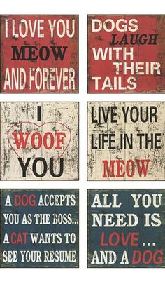 6 Pc. Cat and Dog Wall Decor