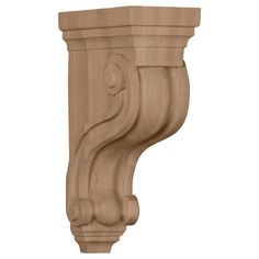 3 3/8-Inch W x 6 1/2-Inch D x 10 1/2-Inch H Boston Traditional Scroll Corbel, Alder - 51.46