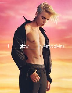 Head in the clouds with Justin Bieber for the Spring 2016 Calvin Klein global advertising. #mycalvins