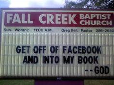 Funny Church Signs - Organ Donor - Beliefnet