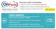 Aprovecha de las promociones que tenemos en la semana internacional de la francofonía. onparle.net aprende francés a tu ritmo