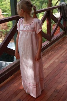 Front view - How to make a Basic Regency Girl's Dress