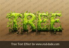 Photoshop Tree Text Effect